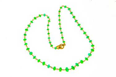 Emerald Gold Wrapped Necklace