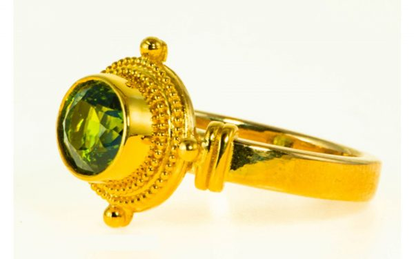 Green Tourmaline Ring - Side