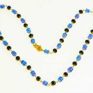 Tanzanite and Black Spinel Necklace