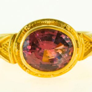 Purple Tourmaline Ring