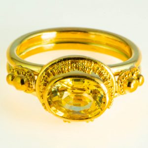 Golden Chrysoberyl Ring