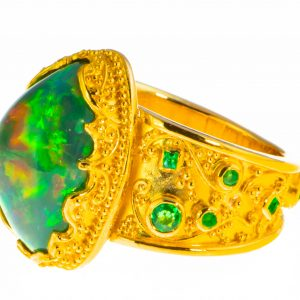 Opal and Emerald Ring