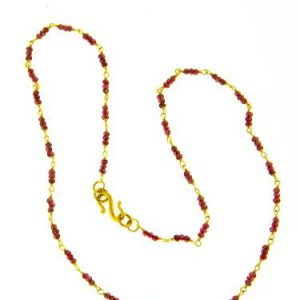 Ruby Triple Necklace