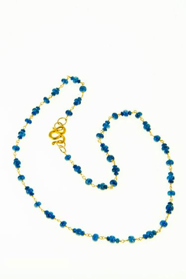 Sapphire Necklace 18K Gold Wrapped