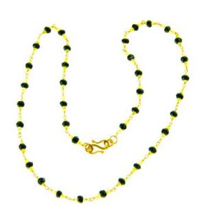 Black Spinel & Peridot Necklace