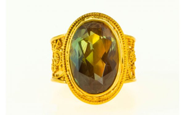 Sunstone Ring Front View