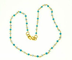 Turquoise and Sapphire Bead Necklace