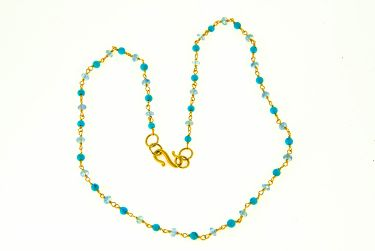 Turquoise Sapphire Necklace